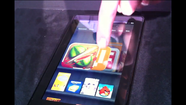 A First Look At S Kindle Fire Tablet In Action