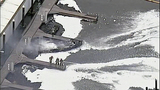 Flames destroy marina boathouses - (18/18)