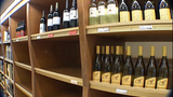 Empty liquor store shelves_1418377
