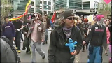 May Day protesters move through downtown - (8/25)