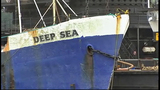 Abandoned ship pulled from sea floor - (8/9)