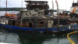 Abandoned ship pulled from sea floor - (1/9)