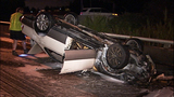 Flipped, burned-out car rests on Albro… - (11/11)