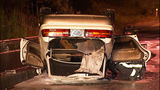 Flipped, burned-out car rests on Albro… - (10/11)