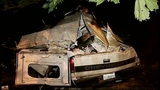 SUV takes out truck, fence in crash through yard - (14/16)