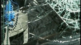 SUV takes out truck, fence in crash through yard - (8/16)