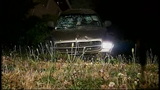 SUV takes out truck, fence in crash through yard - (11/16)