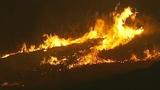 Flames race across Central Washington - (10/21)