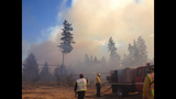 Stubborn, smoky brush fire burns near Belfair - (4/6)