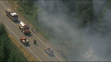 Fire closes Highway 3 in Kitsap County - (5/11)
