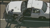 Patrol car's door torn, twisted by semi - (6/9)