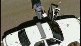 Patrol car's door torn, twisted by semi - (5/9)