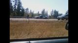 Patrol car's door torn, twisted by semi - (2/9)