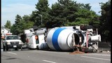 Cement truck overturns on Hwy 99 - (6/7)