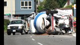 Cement truck overturns on Hwy 99 - (5/7)