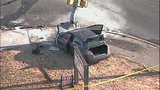 Traffic pole bent, light falls in Fairwood crash - (10/10)