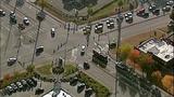 Traffic pole bent, light falls in Fairwood crash - (8/10)