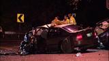 Violent head-on crash leaves cars mangled in… - (3/13)