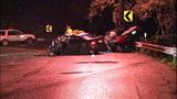 Violent head-on crash leaves cars mangled in… - (9/13)