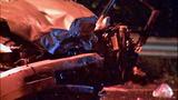 Violent head-on crash leaves cars mangled in… - (2/13)