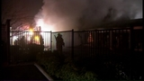 Fire turns storage units into red-hot metal - (10/19)
