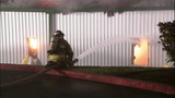 Fire turns storage units into red-hot metal - (8/19)