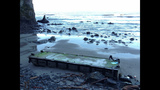 Damaged dock washes ashore at Oly Natl Park - (10/14)
