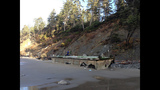 Damaged dock washes ashore at Oly Natl Park - (8/14)
