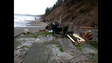 Damaged dock washes ashore at Oly Natl Park - (12/14)