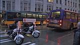 Bus window shattered in pedestrian crash - (3/10)