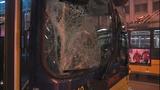 Bus window shattered in pedestrian crash - (4/10)
