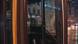 Bus window shattered in pedestrian crash - (10/10)