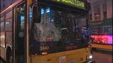 Bus window shattered in pedestrian crash - (2/10)