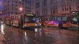 Bus window shattered in pedestrian crash - (6/10)
