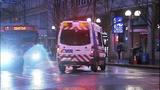 Bus window shattered in pedestrian crash - (5/10)