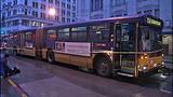 Bus window shattered in pedestrian crash - (9/10)