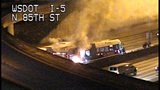 Bus fire images from DOT camera - (12/12)