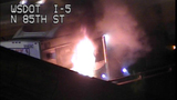 Bus fire images from DOT camera - (6/12)