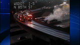 Bus fire images from DOT camera - (5/12)