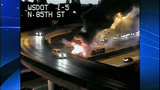 Bus fire images from DOT camera - (8/12)