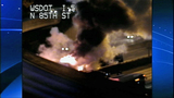 Bus fire images from DOT camera - (3/12)