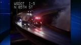 Bus fire images from DOT camera - (7/12)