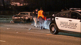 Car mangled in rollover crash - (4/10)