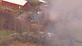 Chopper 7 over Ferndale house fire - (13/23)