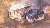 Chopper 7 over Ferndale house fire - (16/23)