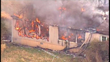 Chopper 7 over Ferndale house fire - (12/23)