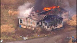 Chopper 7 over Ferndale house fire - (9/23)