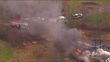 Chopper 7 over Ferndale house fire - (3/23)