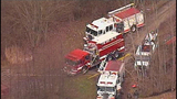Chopper 7 over Ferndale house fire - (4/23)