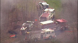 Chopper 7 over Ferndale house fire - (2/23)